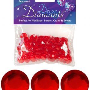 12mm Décor Diamante Diamonds 28g No.16 Red