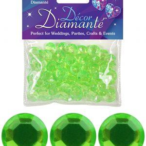 12mm Décor Diamante Diamonds 28g No.14 Lime Green