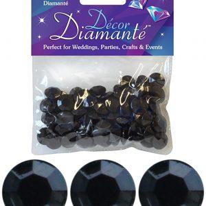 12mm Décor Diamante Diamonds 28g No.20 Black