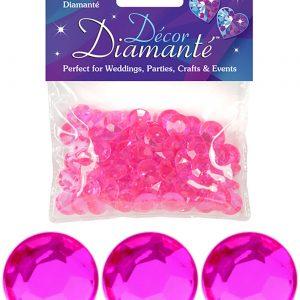 12mm Décor Diamante Diamonds 28g No.34 Hot Pink