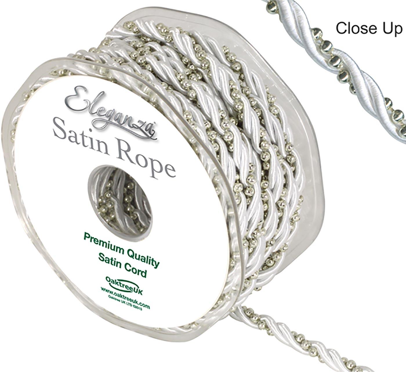 Eleganza Satin Pearl rope 5.5mm x 10m White