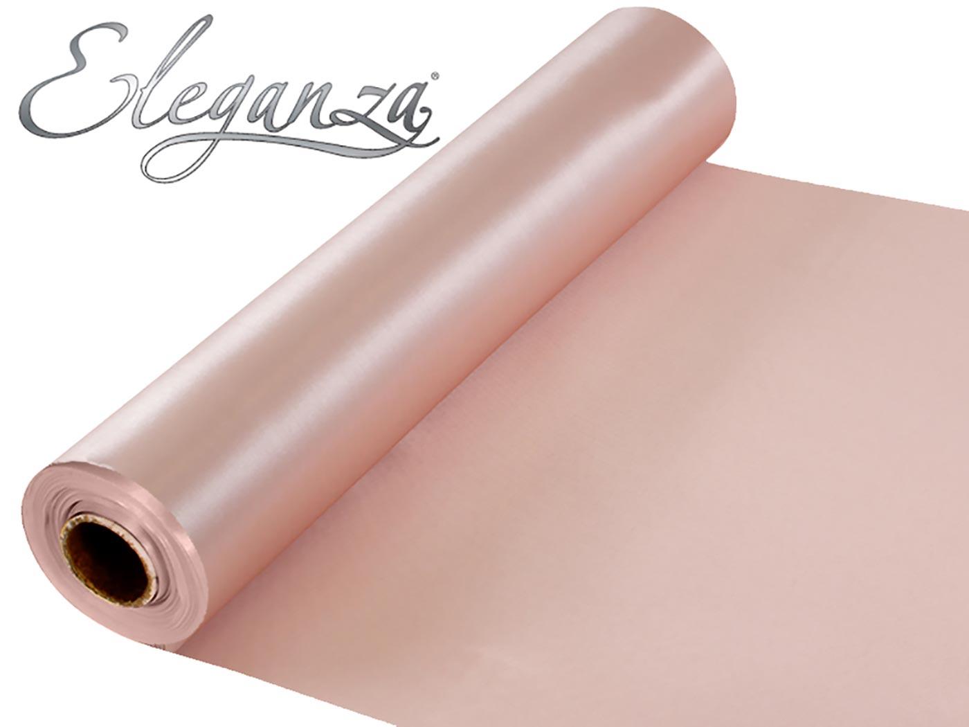 Eleganza Satin Fabric 29cm x 20m Rose Gold