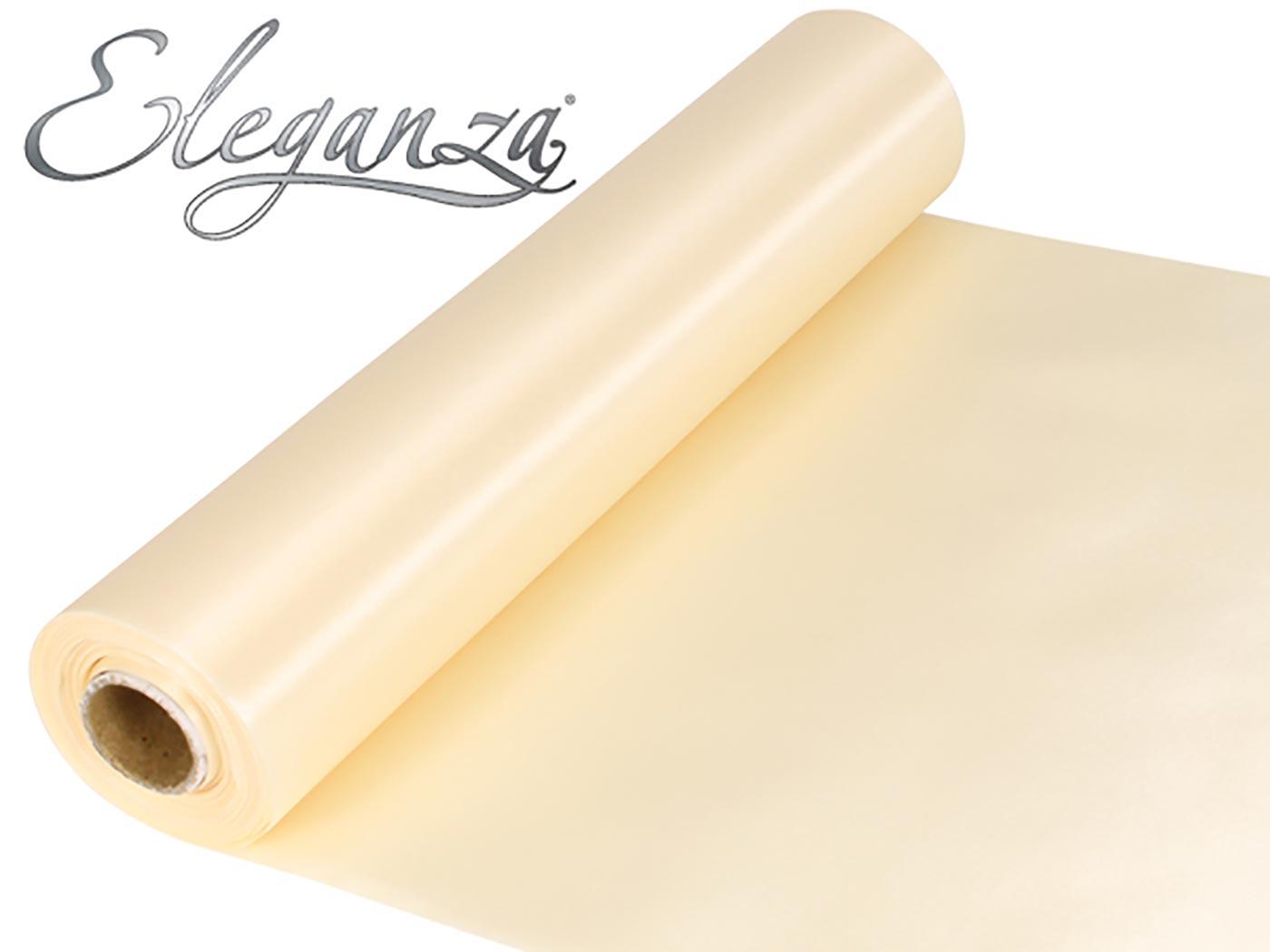 Eleganza Satin Fabric 29cm x 20m Ivory