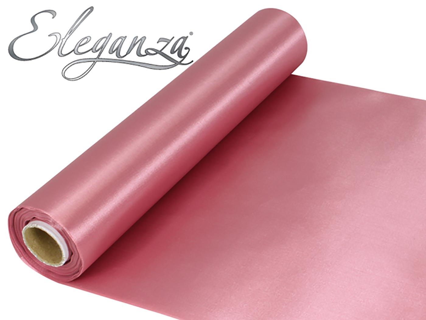 Eleganza Satin Fabric 29cm x 20m Dusky Pink