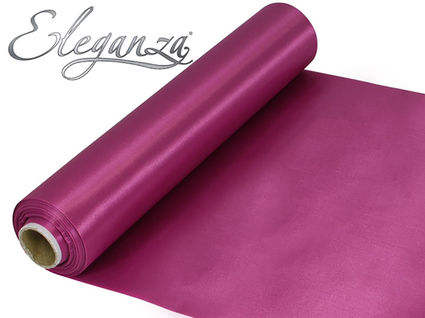Eleganza Satin Fabric 29cm x 20m Rose Pink