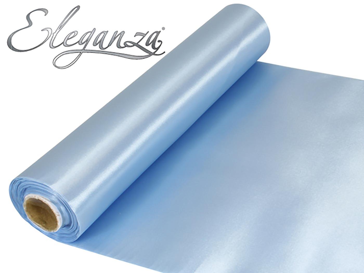 Eleganza Satin Fabric 29cm x 20m Lt.Blue