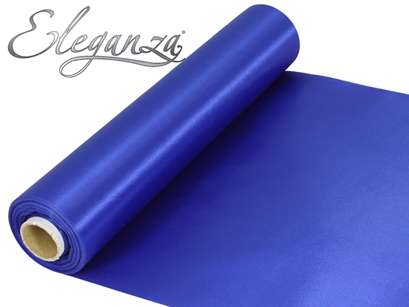 Eleganza Satin Fabric 29cm x 20m Royal Blue