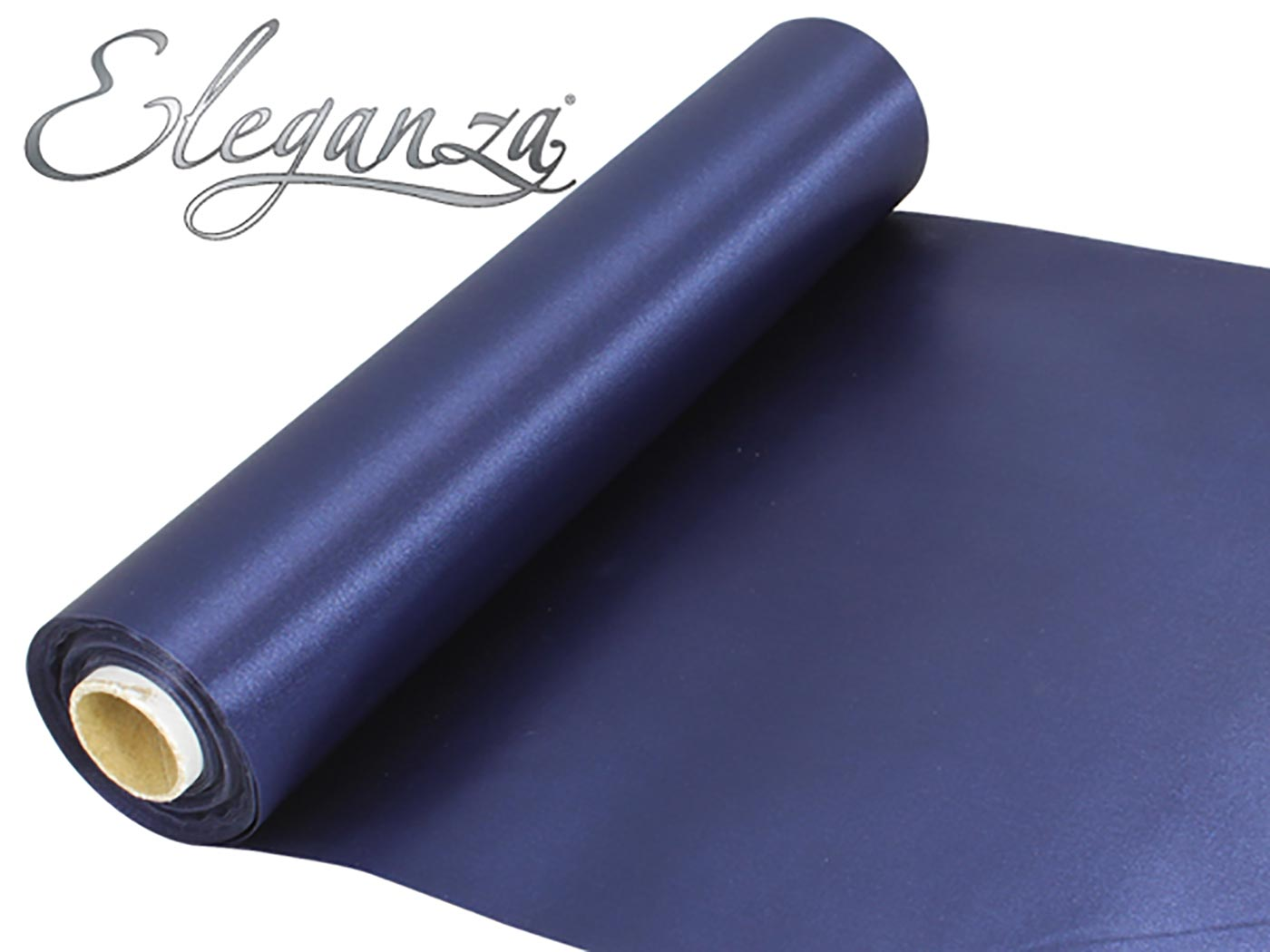 Eleganza Satin Fabric 29cm x 20m Navy Blue
