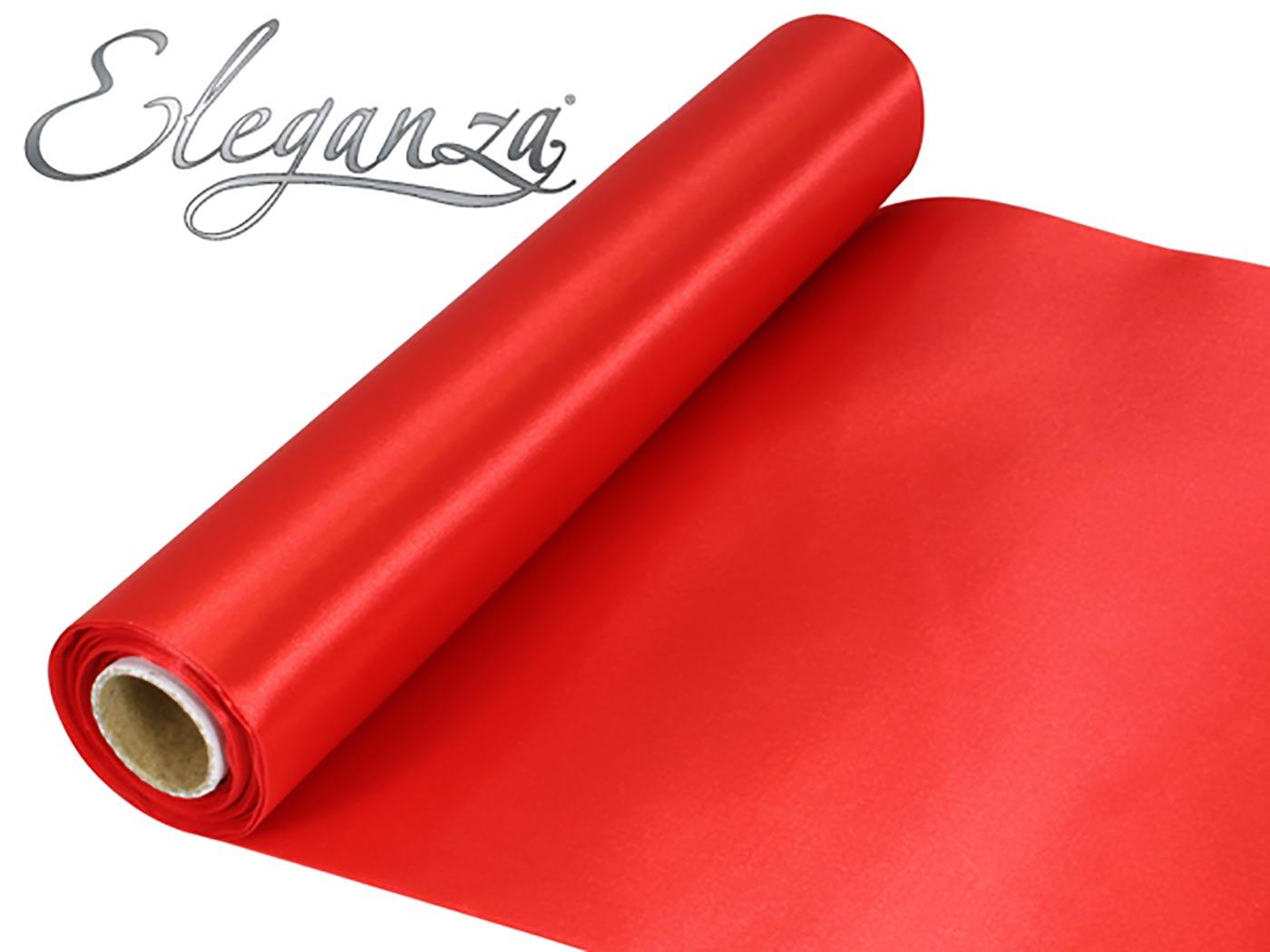 Eleganza Satin Fabric 29cm x 20m Red