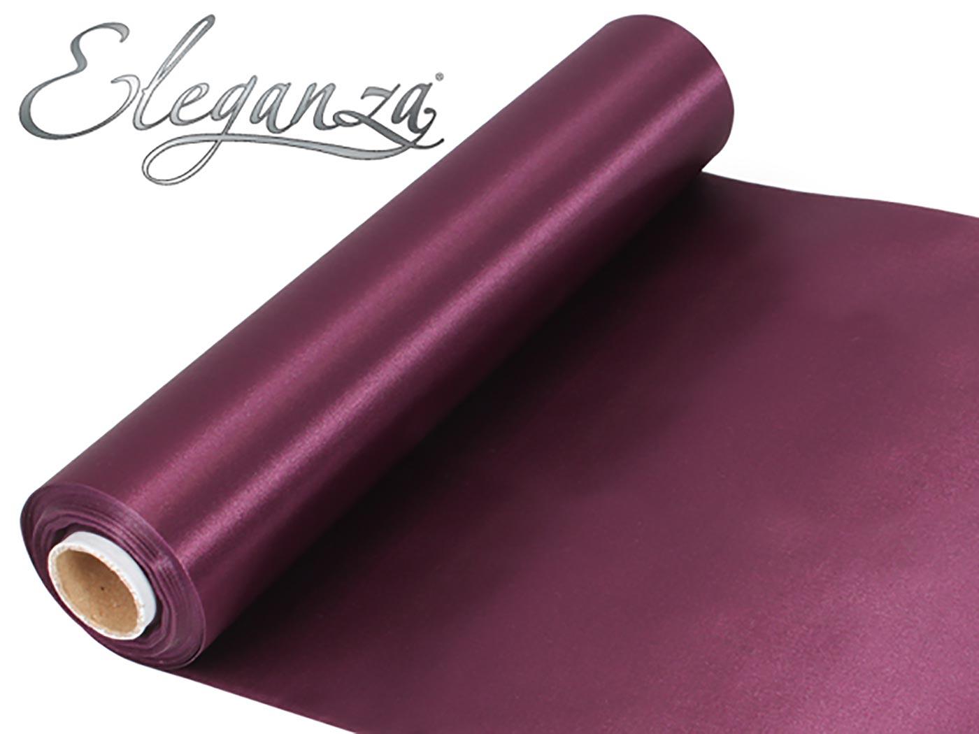 Eleganza Satin Fabric 29cm x 20m Burgundy