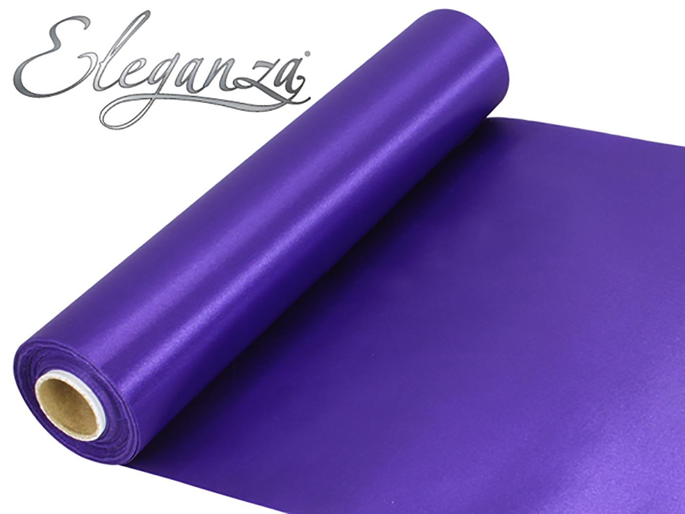 Eleganza Satin Fabric 29cm x 20m Purple