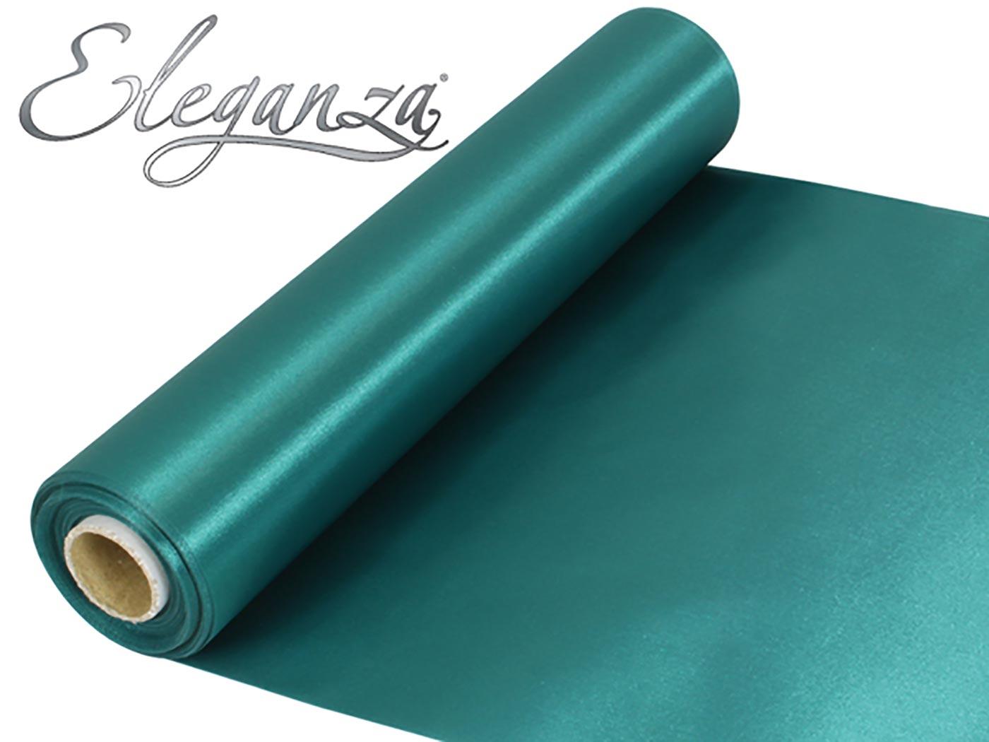 Eleganza Satin Fabric 29cm x 20m Green