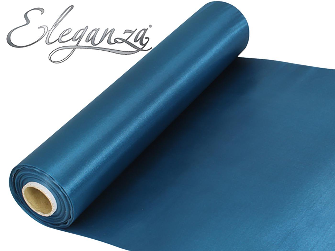 Eleganza Satin Fabric 29cm x 20m Teal
