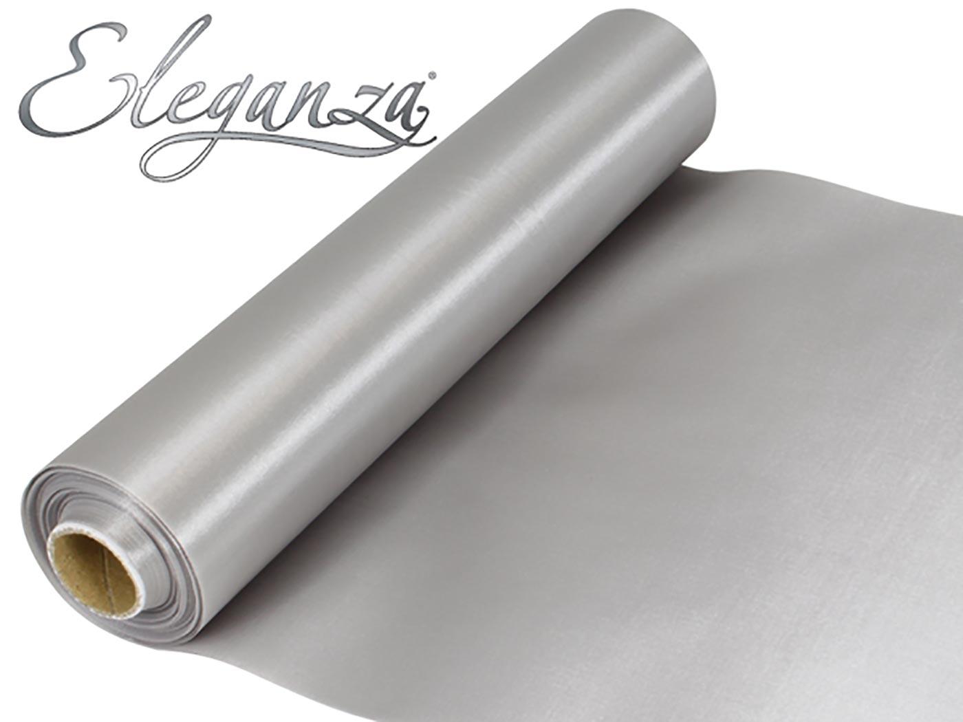 Eleganza Satin Fabric 29cm x 20m Silver