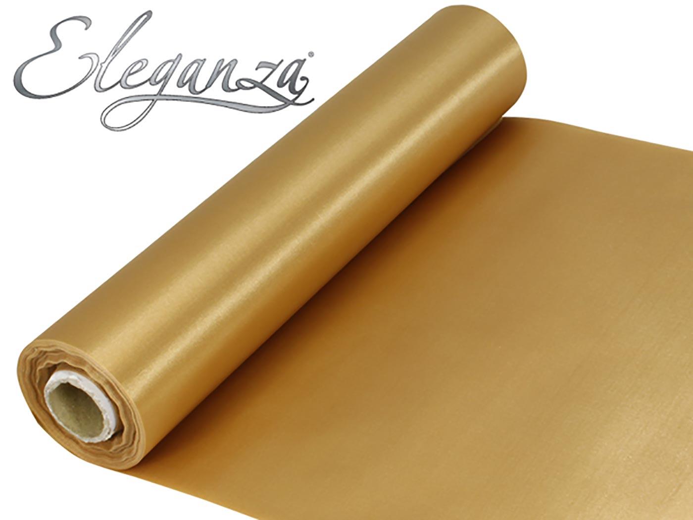 Eleganza Satin Fabric 29cm x 20m Gold