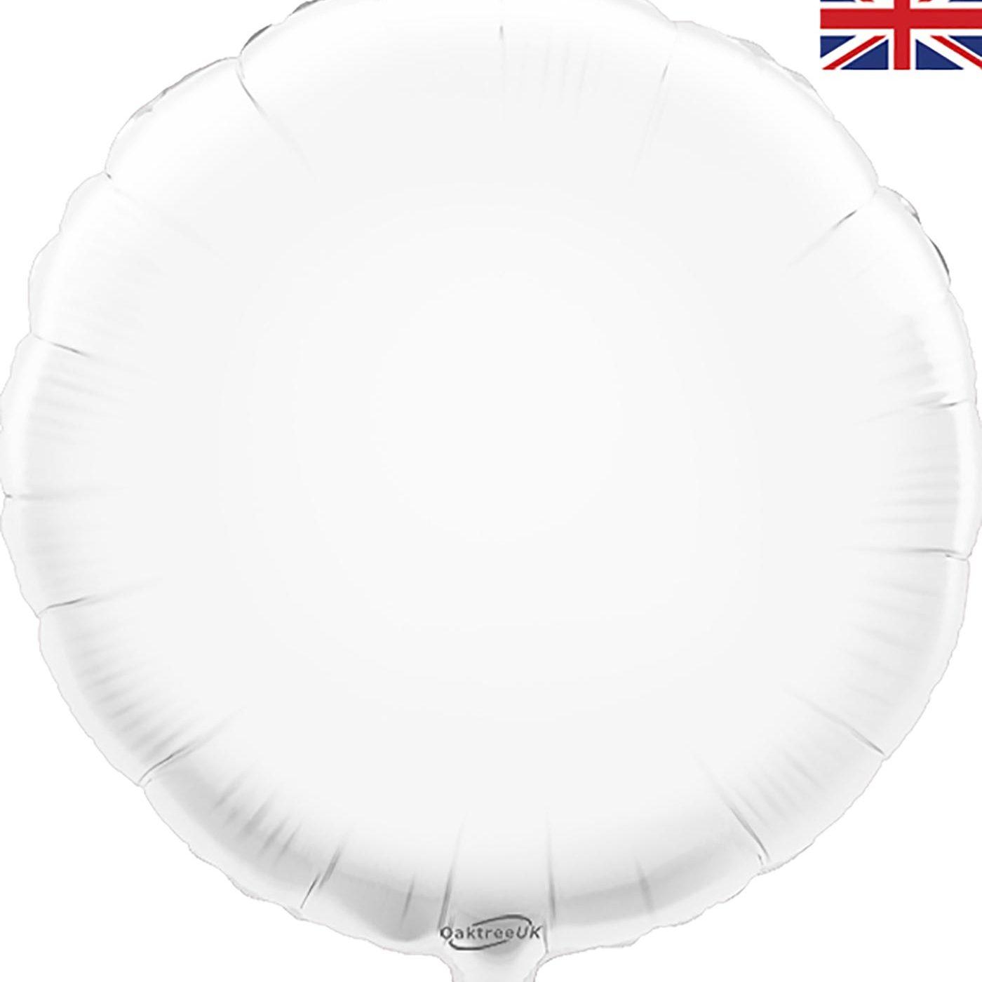 """Oaktree 18"""" White Round"""