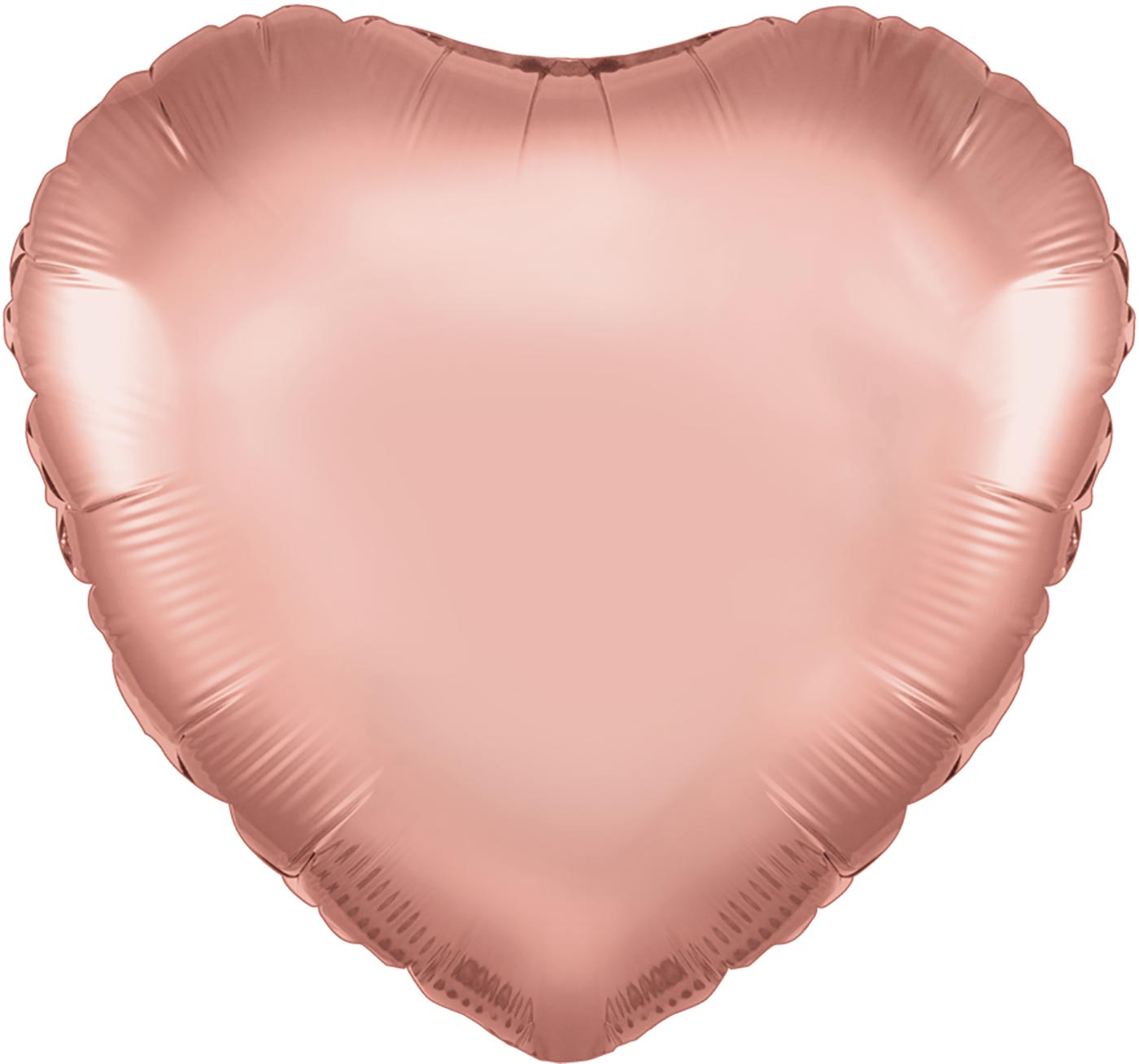 "Oaktree 18"" Rose Gold Heart Packaged"