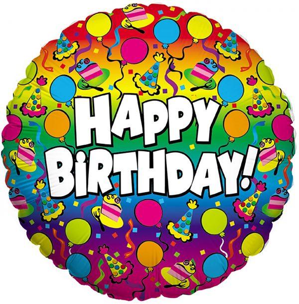"""Betallic 18"""" Rainbow Birthday"""