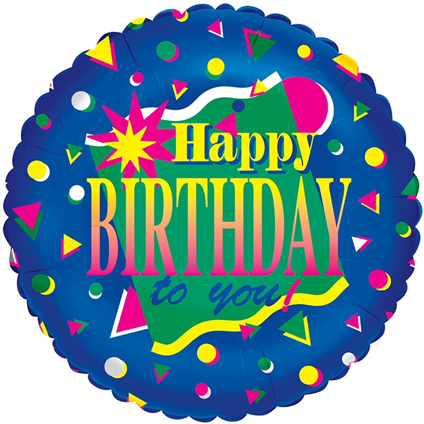 "Betallic 18"" Festive Birthday - Blue"
