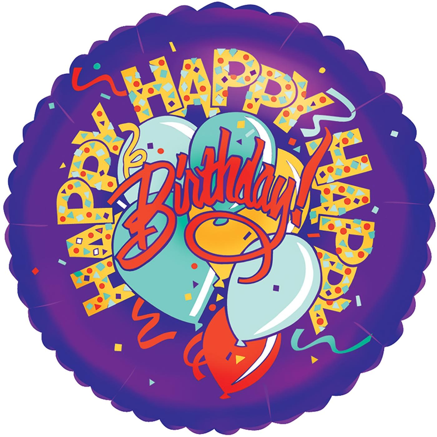 "Betallic 18"" Happy-Happy Birthday"