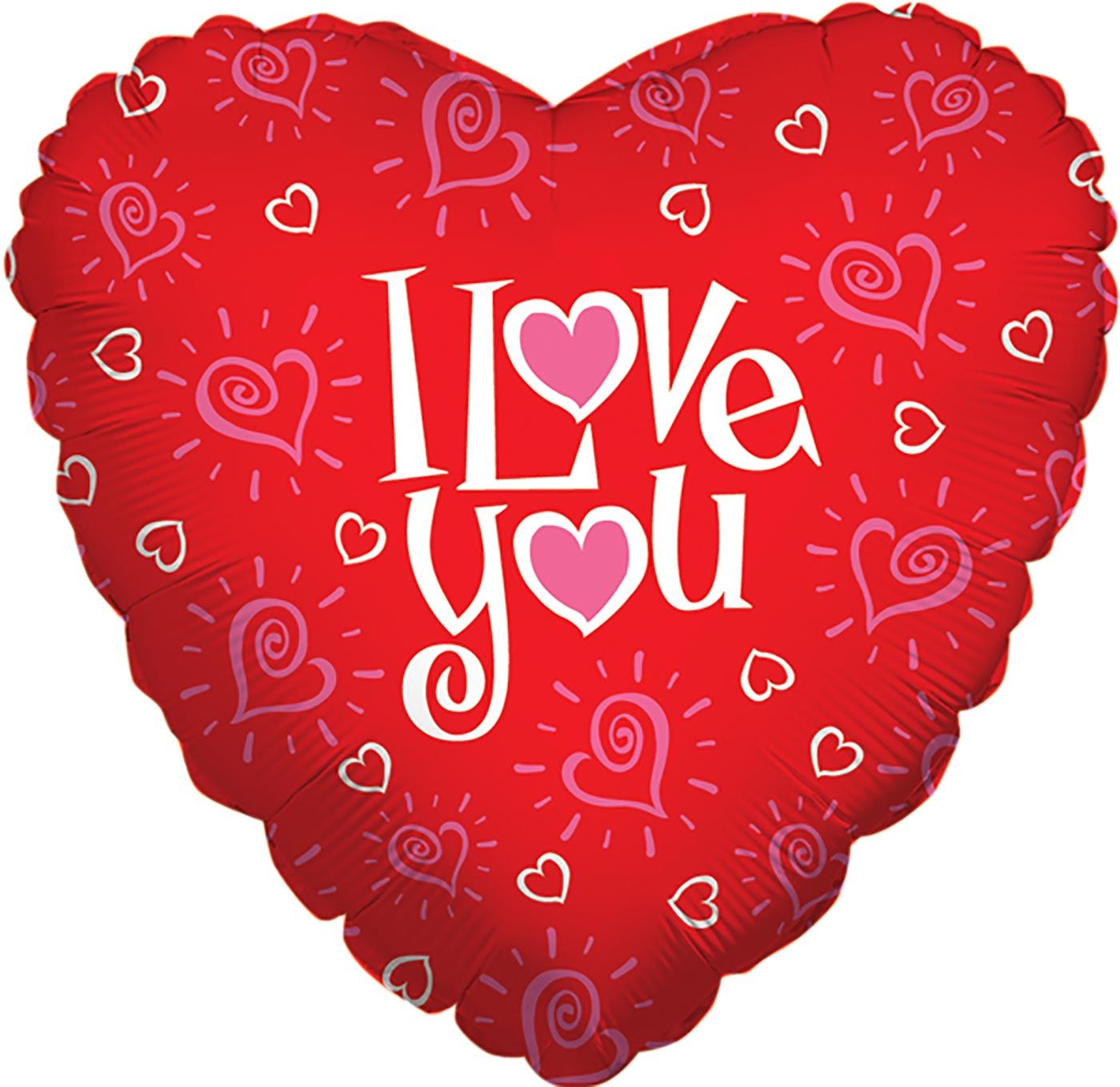 "Betallic 18"" Love You Hearts"