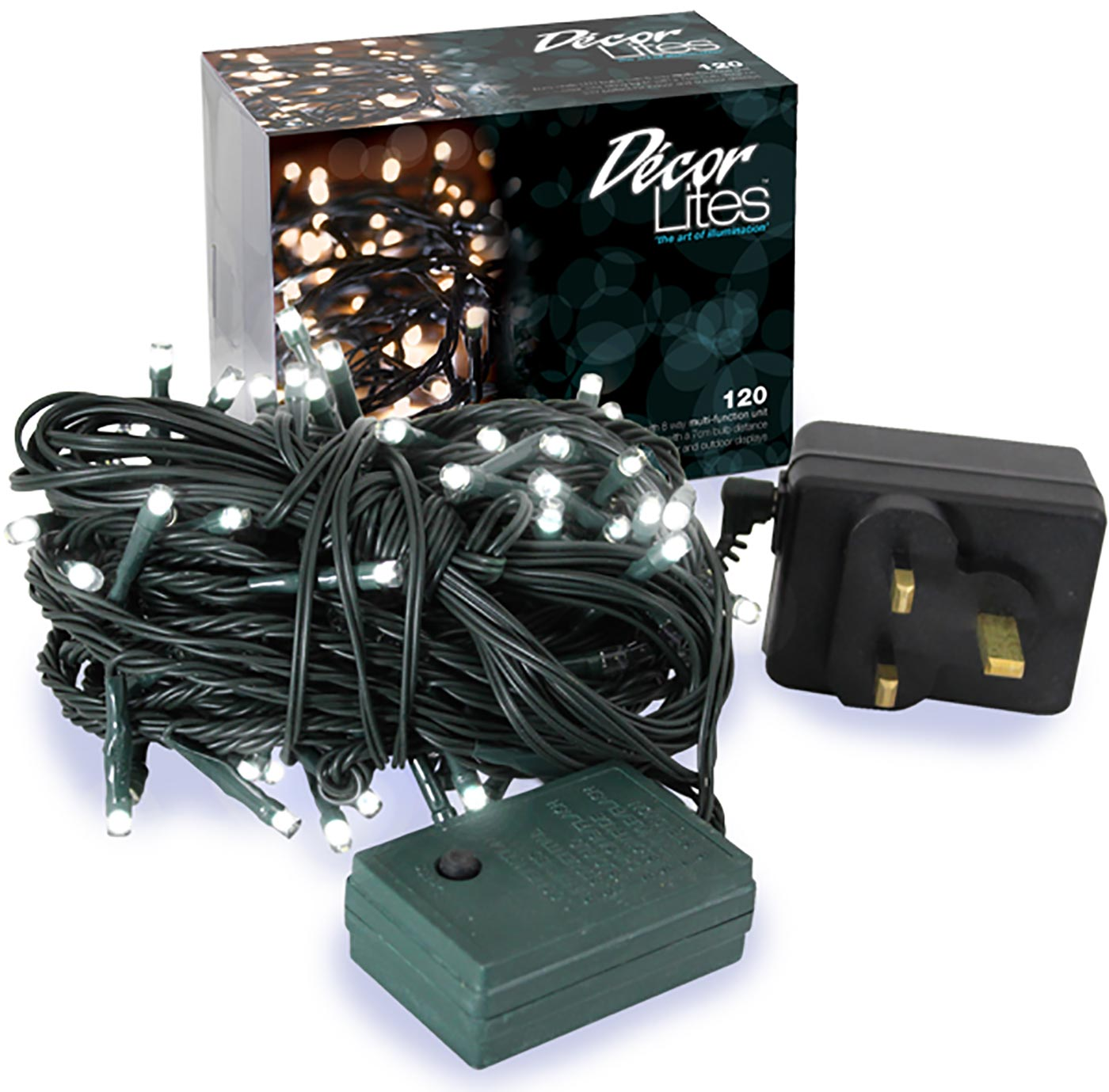 Décor Lites 120 Set White 24v (Green Wire) 8 Multifunction