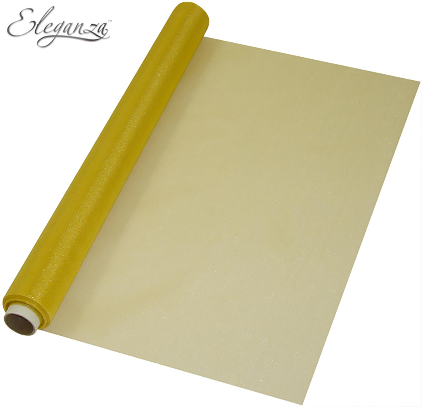 Eleganza Soft Sheer Organza 47cm x 10m No.35 Gold