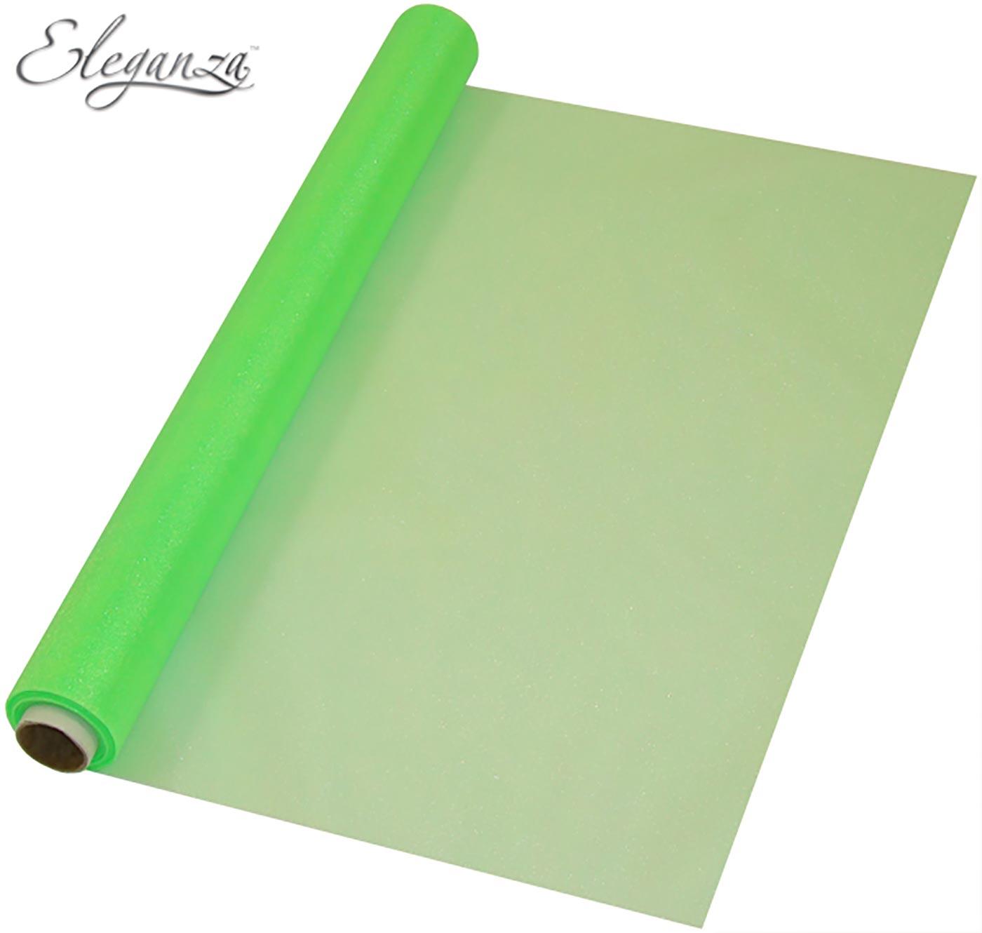 Eleganza Soft Sheer Organza 47cm x 10m No.14 Lime Green