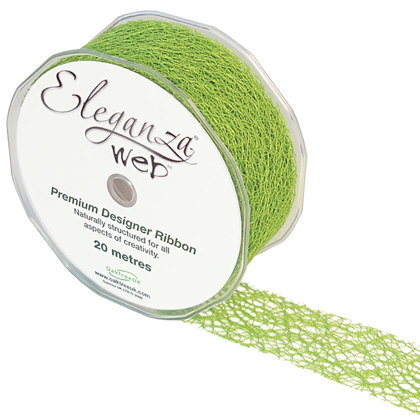 Eleganza Web Ribbon 38mm x 20m Lime Green