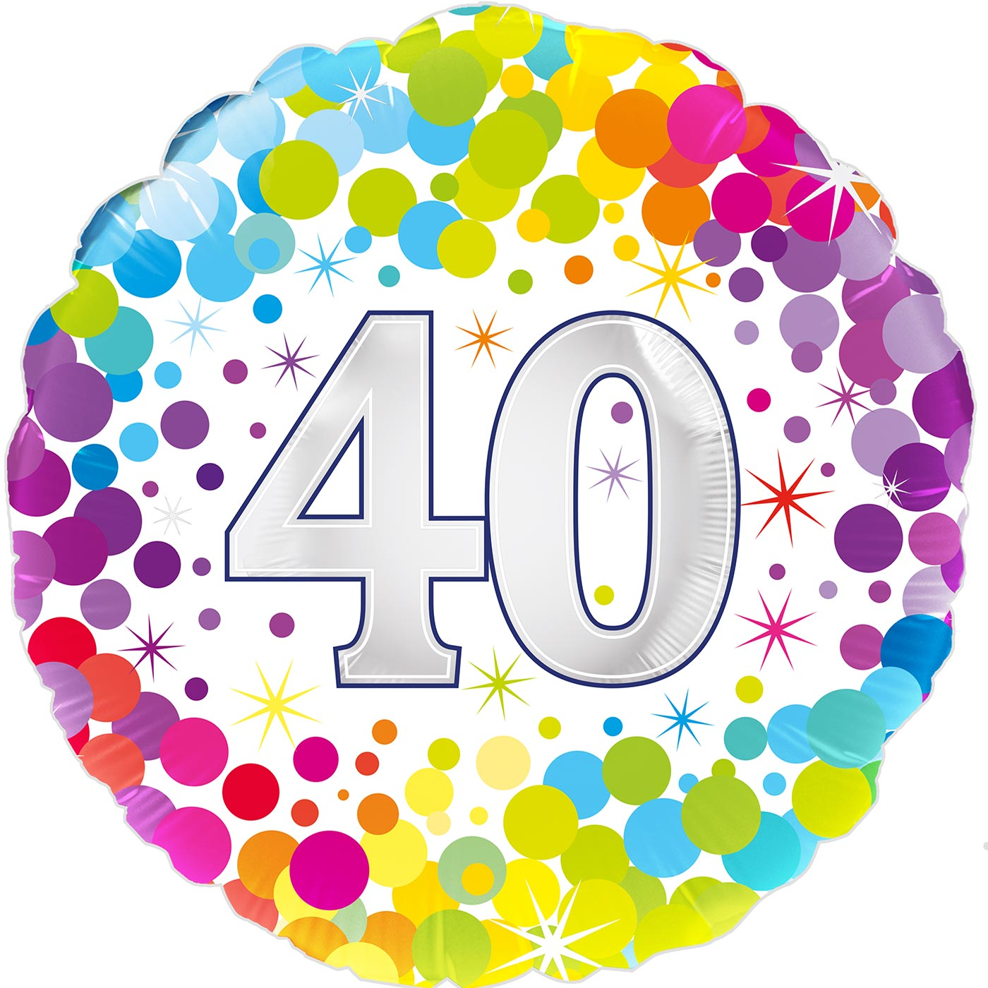 "Oaktree 18"" 40th Colourful Confetti Birthday"