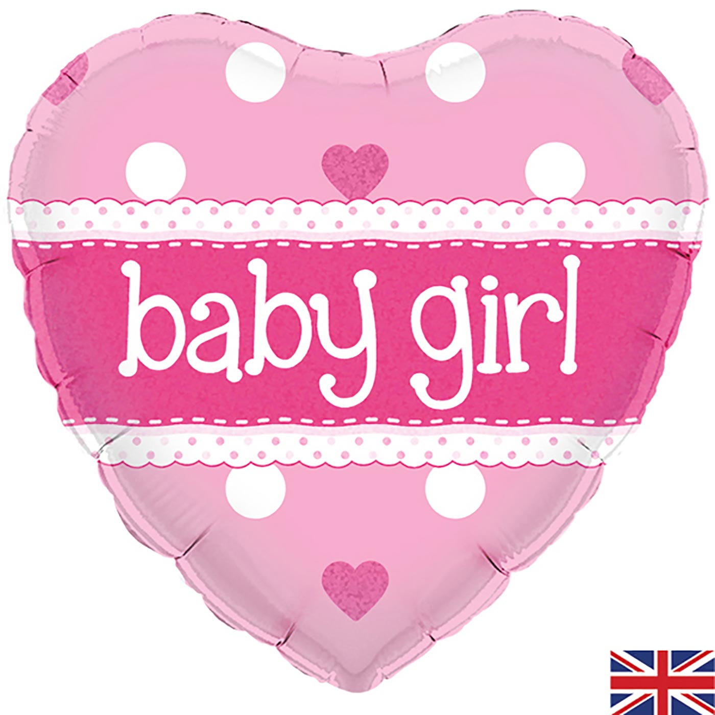 """Oaktree 18"""" It's a Girl Pastel Heart Holographic"""