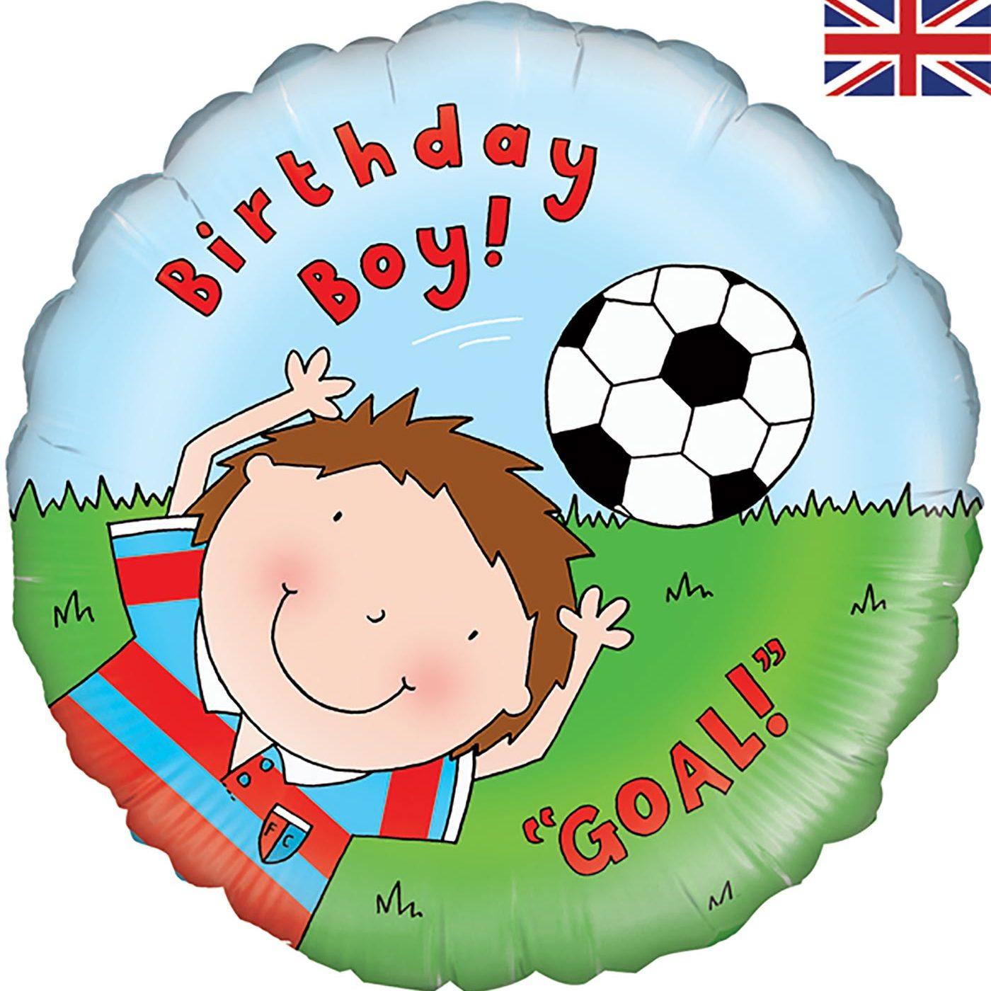 "Oaktree 18"" Happy Birthday Footballer"