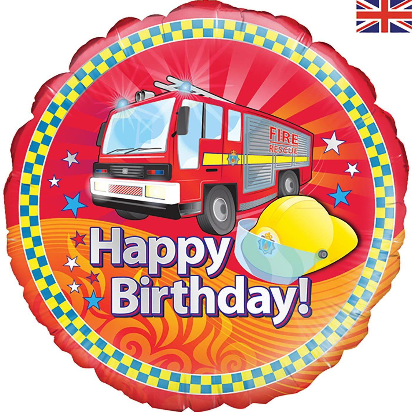 "Oaktree 18"" Fire Engine Birthday"
