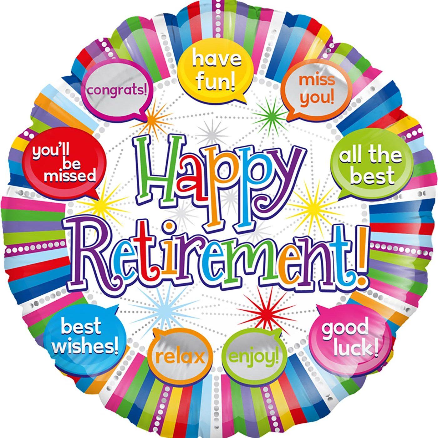 """Oaktree 18"""" Happy Retirement Speech Bubble"""