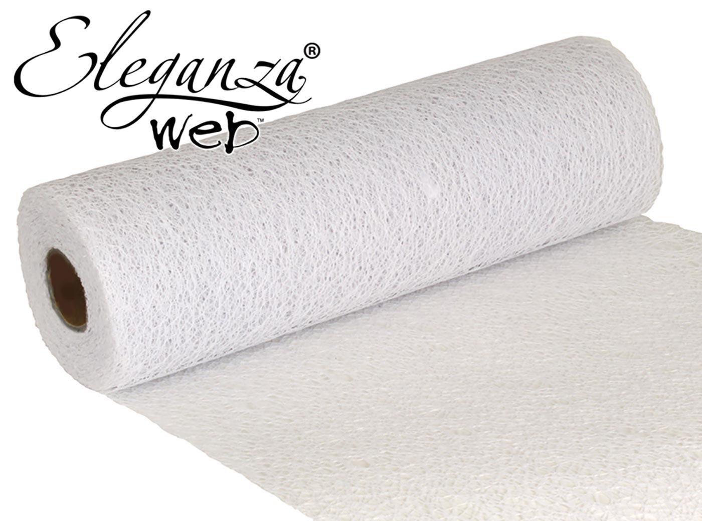 Eleganza Web Fabric roll 28cm x 10m White
