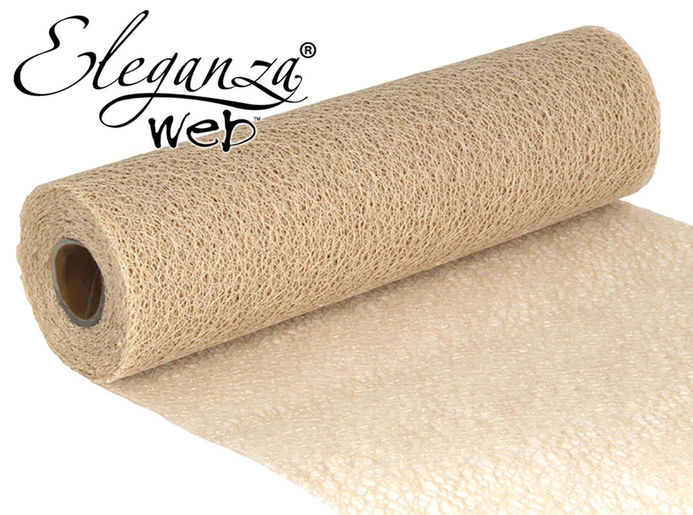 Eleganza Web Fabric roll 28cm x 10m Ivory