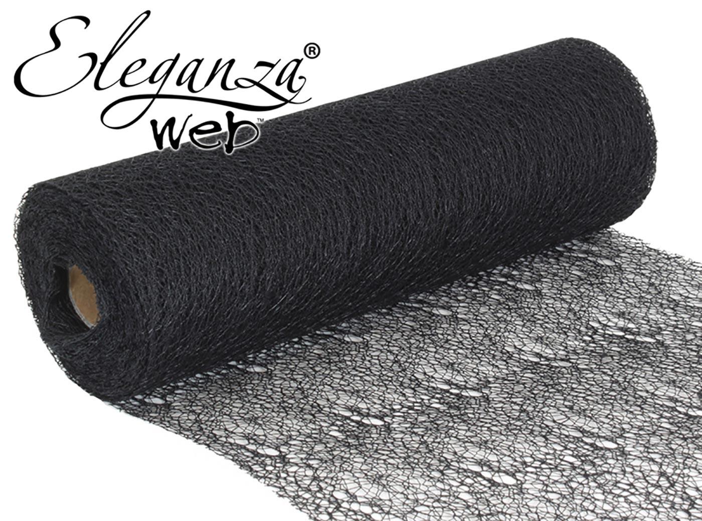 Eleganza Web Fabric roll 28cm x 10m Black