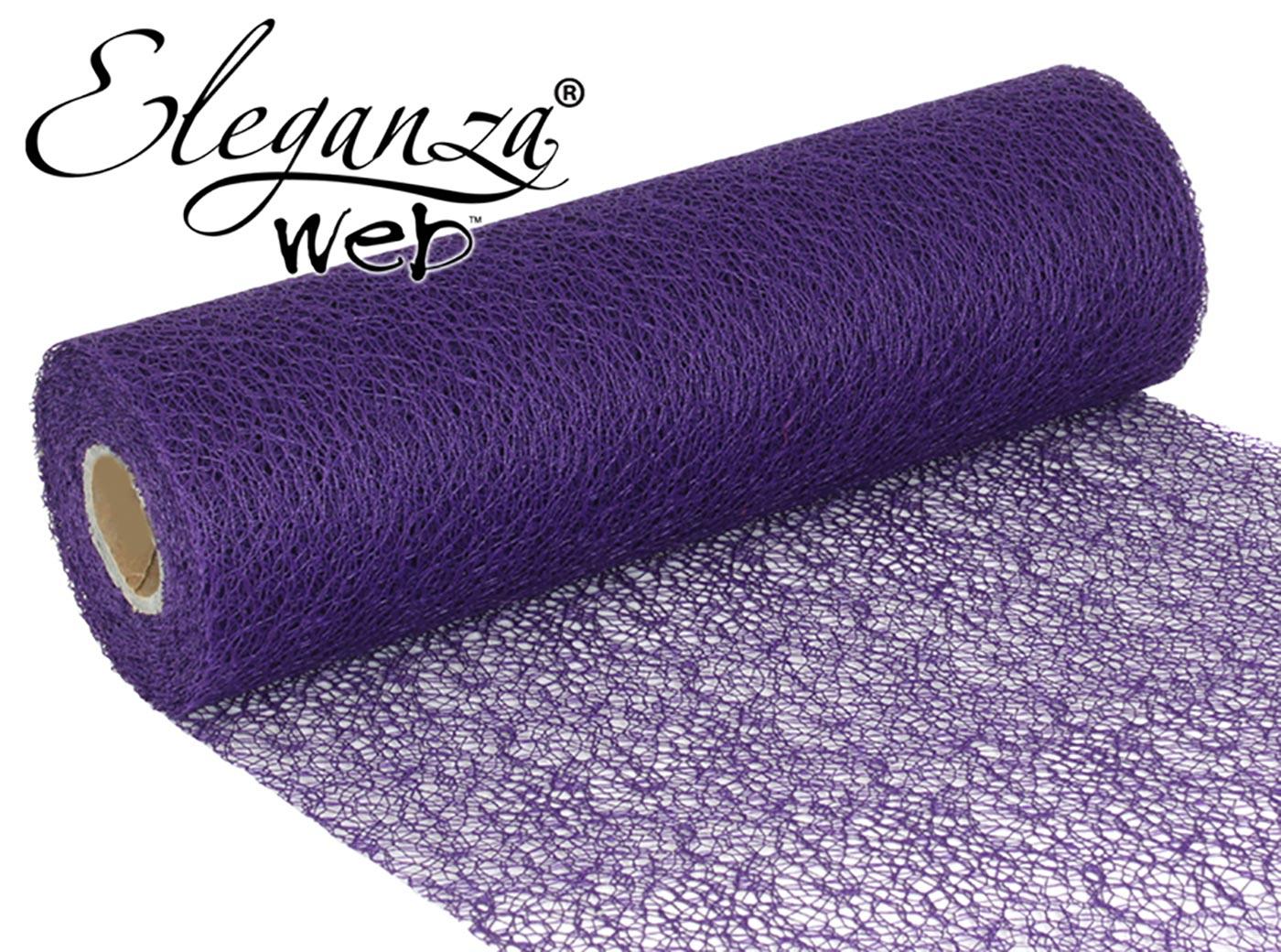 Eleganza Web Fabric roll 28cm x 10m Purple