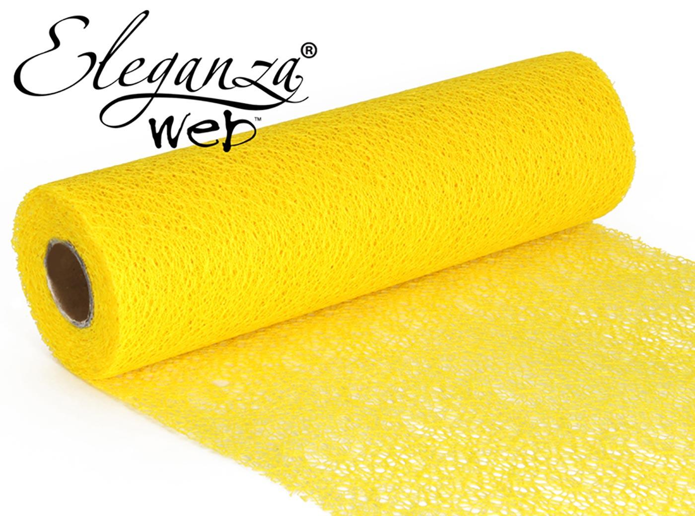 Eleganza Web Fabric roll 28cm x 10m Yellow