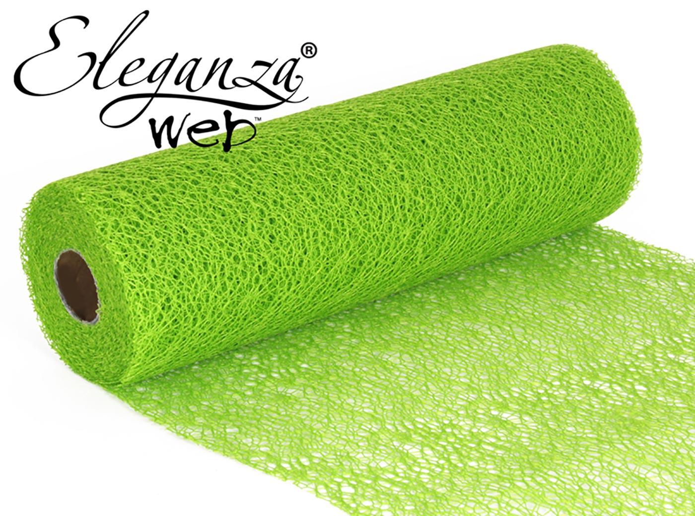 Eleganza Web Fabric roll 28cm x 10m Lime Green