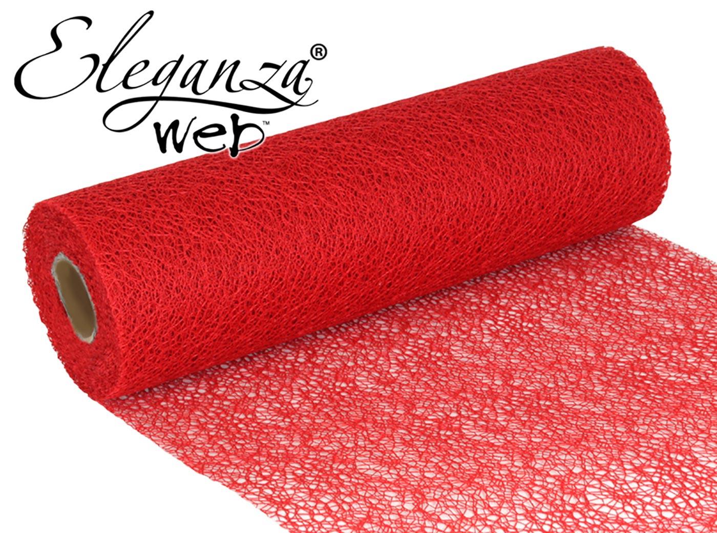 Eleganza Web Fabric roll 28cm x 10m Red