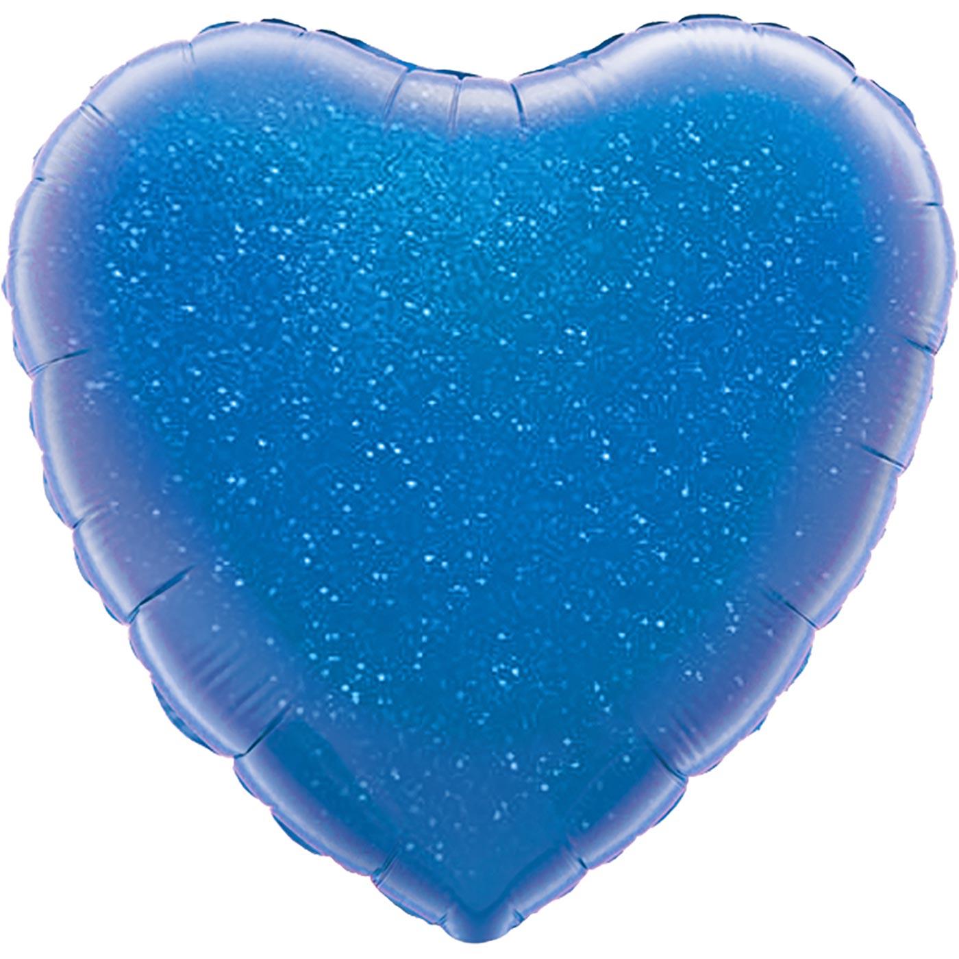 "Oaktree 18"" Blue Holographic Heart"