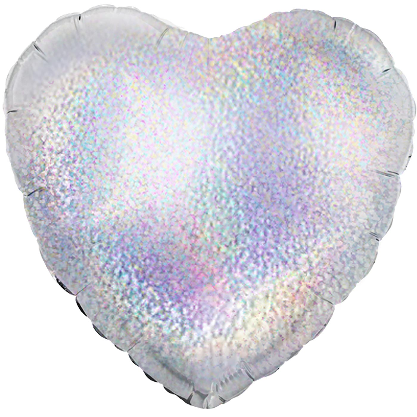 """Oaktree 18"""" Silver Holographic Heart"""