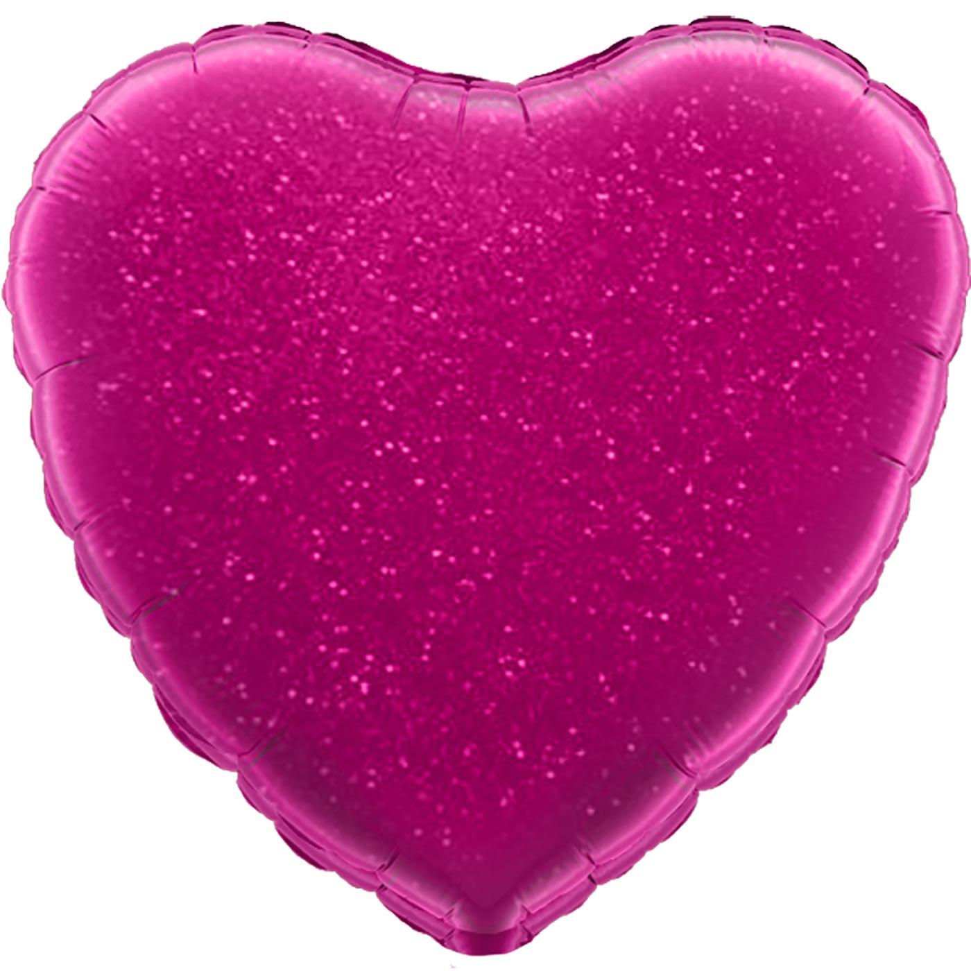 "Oaktree 18"" Fuchsia Holographic Heart"