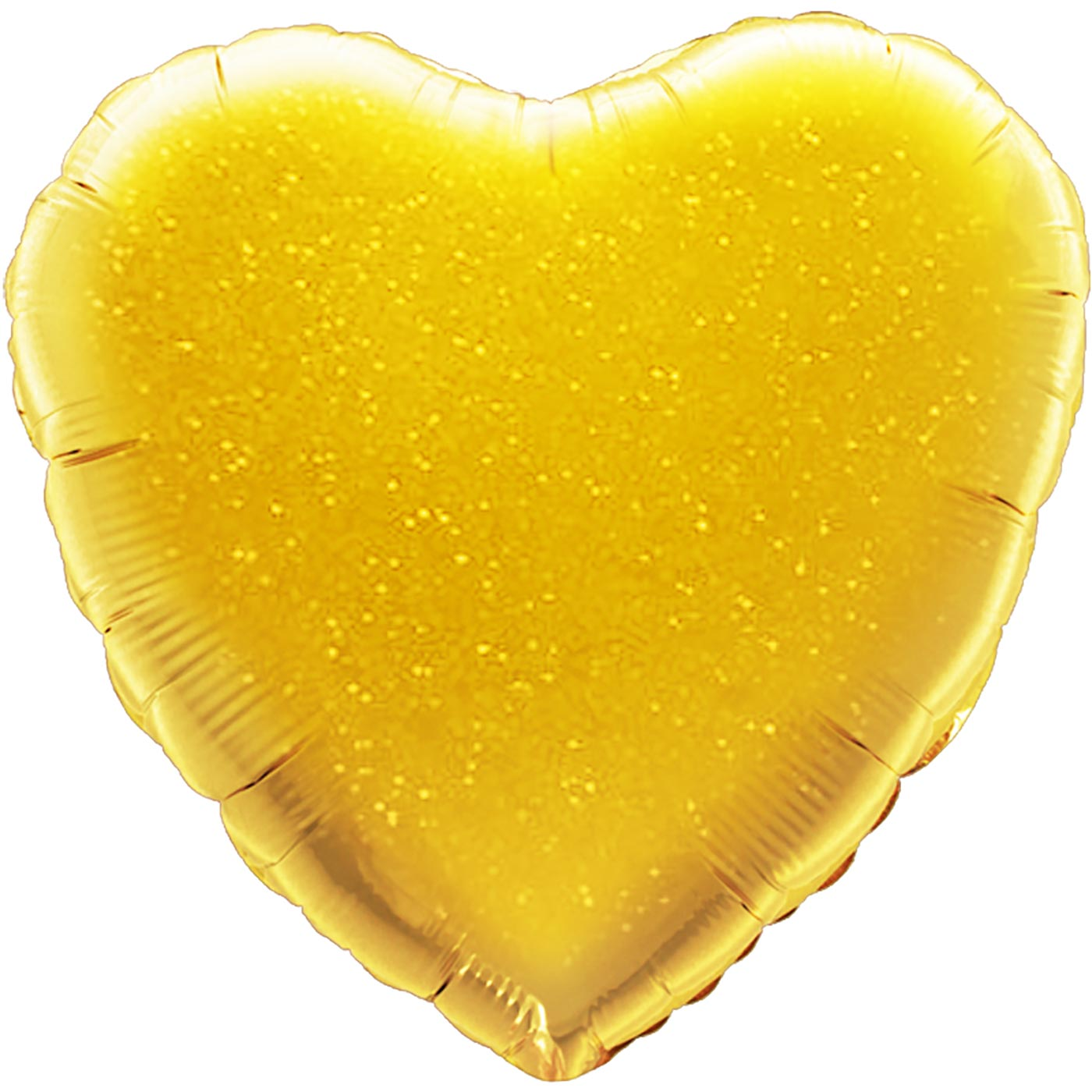 """Oaktree 18"""" Gold Holographic Heart"""
