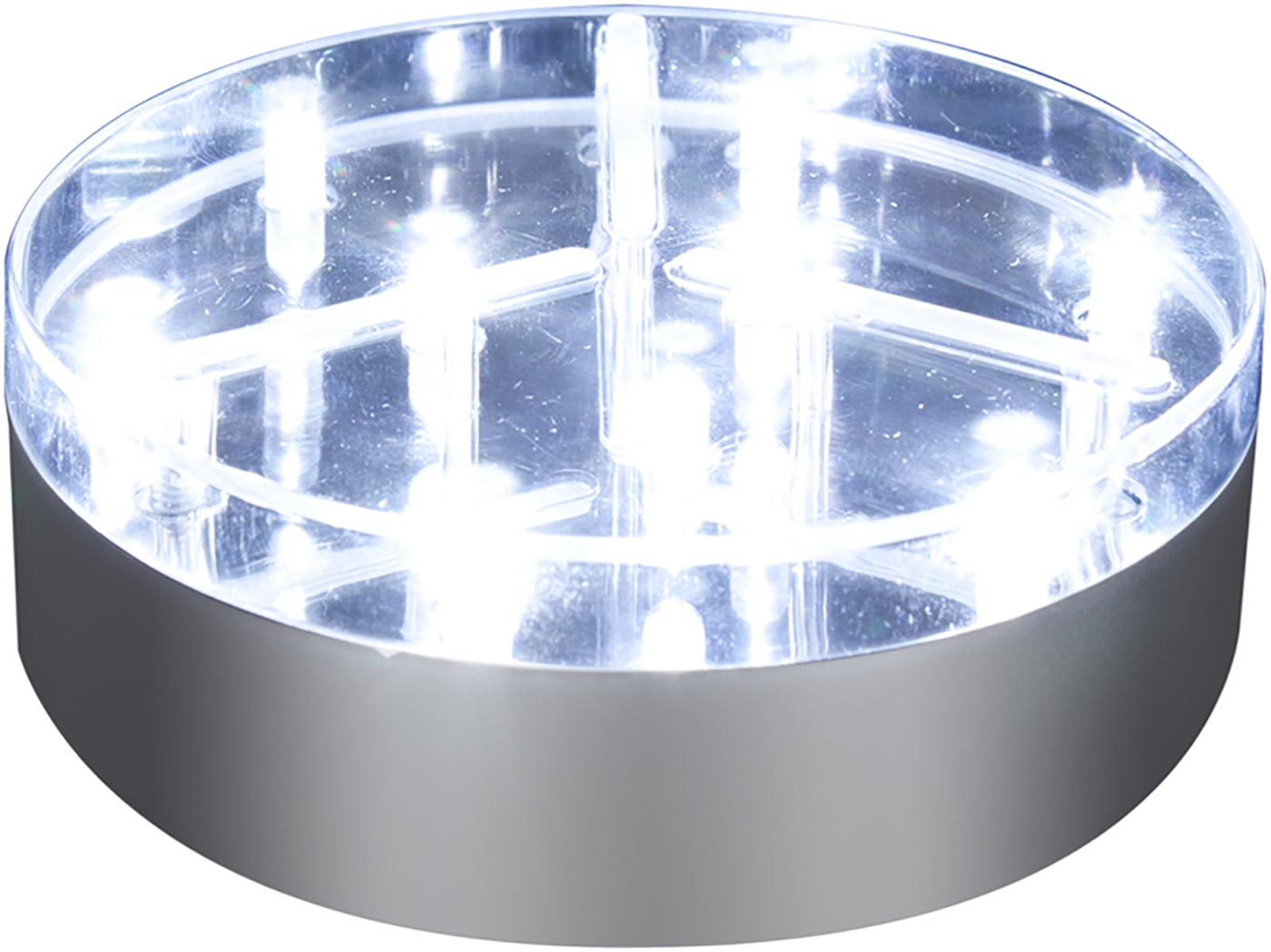 "4"" Silver BaseLite™ 9 Super Bright LED White"