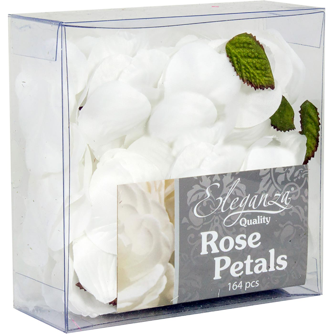 Eleganza Rose Petals Acetate box 164pcs White