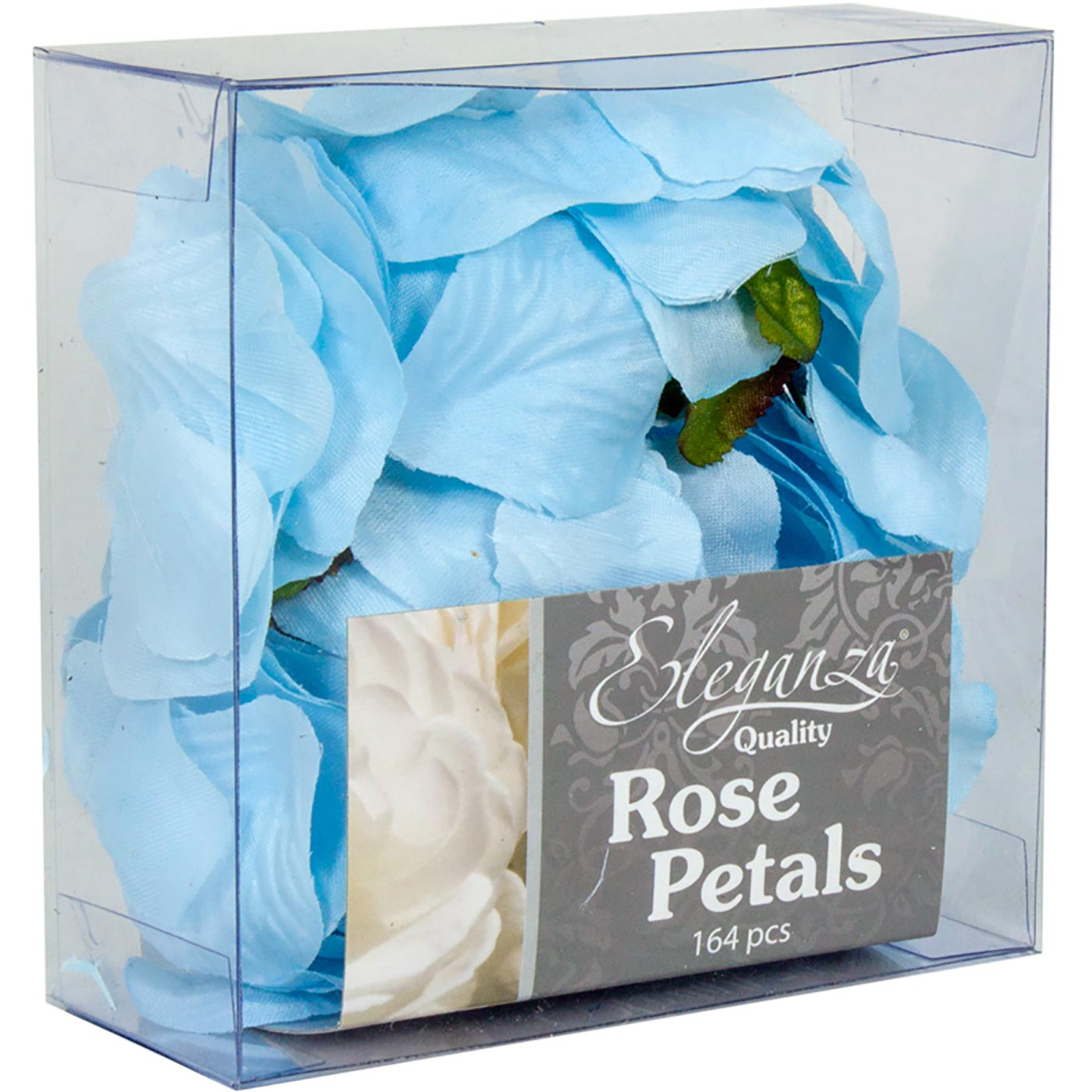Eleganza Rose Petals Acetate box 164pcs Lt. Blue