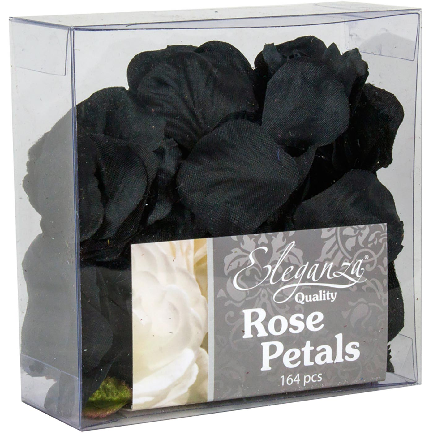 Eleganza Rose Petals Acetate box 164pcs Black