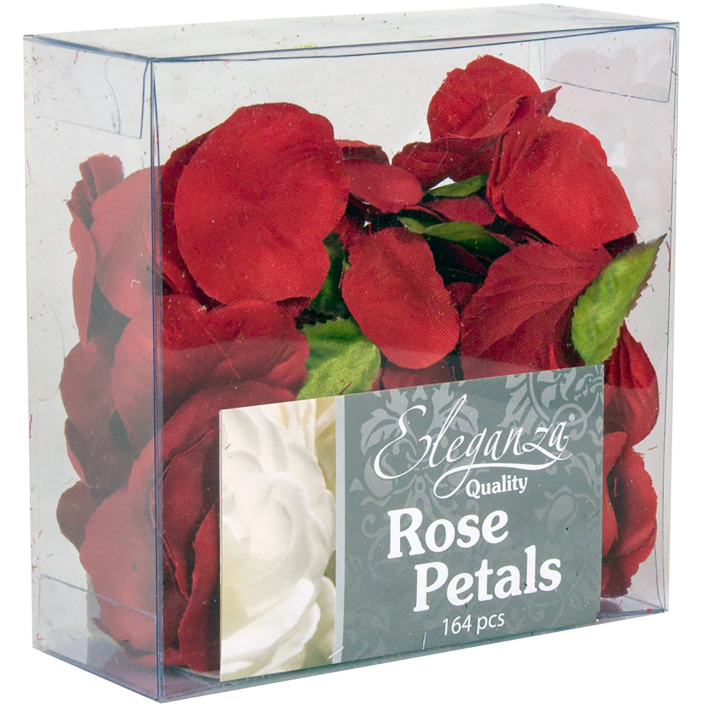 Eleganza Rose Petals Acetate box 164pcs Red